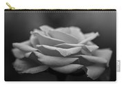Monotone Rose Carry-all Pouch