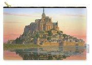 Mont Saint-michel Morn Carry-all Pouch by Richard Harpum