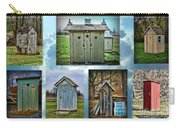 Montage Of Outhouses Carry-all Pouch