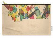 Montana Map Vintage Watercolor Carry-all Pouch