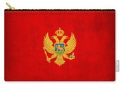 Montenegro Flag Vintage Distressed Finish Carry-all Pouch