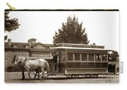 Monterey And Pacific Grove Street Railway Circa 1895 Carry-all Pouch