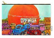 Montreal Art Orange Julep Paintings Montreal Summer City Scenes Carole Spandau Carry-all Pouch