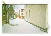 Montreal Art Urban Winter City Scene Painting Verdun Laneway After  Heavy December Snowfall Carry-all Pouch