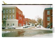 Montreal Art Winter Street Scene Painting The Point Psc Rowhouses In January Snow Cspandau Carry-all Pouch