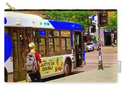 Montreal Bus Scenes Catching The 97 Bus Pontiac Corner Mont Royal Urban Montreal Art Carole Spandau Carry-all Pouch
