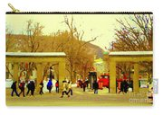 Montreal Memories Mcgill Students On Campus Roddick Gates Montreal Collectible Art Prints C Spandau Carry-all Pouch
