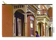 Montreal Memories Pretty Plateau Porches Lady Climbs Front Steps By Bricks Balconies Home Cspandau   Carry-all Pouch