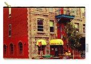 Montreal Memories Restaurant Chez Orphee 362 Fairmount Cb Spandau Montreal Premier City Scene Artist Carry-all Pouch