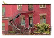 Montreal Memories The Old Neighborhood Timeless Triplex With Spiral Staircase City Scene C Spandau  Carry-all Pouch