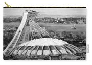 Montreal Olympic Stadium And Olympic Park-home To Biodome And Velodrome-montreal In Black And White Carry-all Pouch