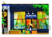 Montreal Rainy Day  Window Shopping Girl With Paisley Umbrella Spa Molinard Laurier  Carole Spandau Carry-all Pouch