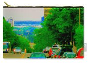 Montreal Skyline Decarie View Of Clock Tower Victoria Pier And Super Hospital Site Carole Spandau Carry-all Pouch