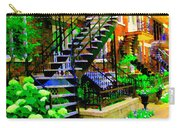 Montreal Staircases Verdun Stairs Duplex Flower Gardens Summer City Scenes Carole Spandau Carry-all Pouch
