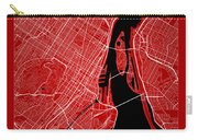 Montreal Street Map - Montreal Canada Road Map Art On Color Carry-all Pouch