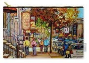 Montreal Streetscenes By Cityscene Artist Carole Spandau Over 500 Montreal Canvas Prints To Choose  Carry-all Pouch