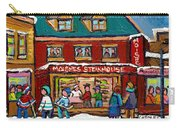 Montreal Winter Hockey At Moishes Carry-all Pouch