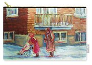 Montreal Winter Scenes Carry-all Pouch