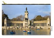 Monument And Lake In Retiro Park In Madrid Carry-all Pouch