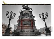 Monument To Russian Emperor Nicholas I In St . Petersburg . Russia Carry-all Pouch