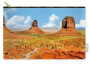 Monument Valley In Spring Panoramic Painting Carry-all Pouch