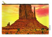 Monument Valley Right Mitten Sunrise Painting Carry-all Pouch