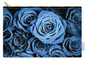 Moody Blue Rose Bouquet Carry-all Pouch