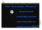 Moon - Serenity Prayer - Blue Carry-all Pouch