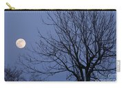 Moon And Bare Tree Carry-all Pouch