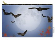 Moon And Bats Carry-all Pouch