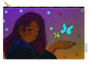 Moon Flies Carry-all Pouch by Antonio Mason