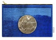 Moon On Blue Carry-all Pouch by Carol Leigh