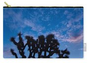 Moon Over Joshua - Joshua Trees During Sunrise In Joshua Tree National Park. Carry-all Pouch