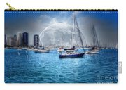 Moon Over The City Harbor Carry-all Pouch