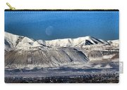 Moon Over The Snow Covered Mountains Carry-all Pouch