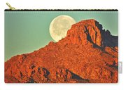 Moon Over Tucson Mountains Carry-all Pouch