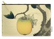 Moon Persimmon And Grasshopper Carry-all Pouch
