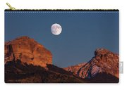 Moon Rise Over Cimarron Mountain Range Carry-all Pouch