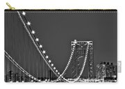 Moon Rise Over The George Washington Bridge Bw Carry-all Pouch