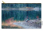 Moon Setting Fall Foliage Reflection Carry-all Pouch