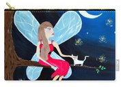 Moonlight Fairy And Fireflies Carry-all Pouch