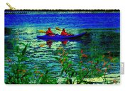 Moonlight Kayak Ride Along The Coastline Of The Lachine Canal Quebec Sea Scenes Carole Spandau Carry-all Pouch
