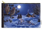 Moonlight Magig-great Horned Owls Carry-all Pouch