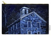 Moonlight On The Old Stone Building  Carry-all Pouch by Edward Fielding