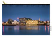 Moonlight Over Reykjavik Harbor Carry-all Pouch