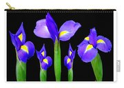 Moonlight Purple Flower Selection Romantic Lovely Valentine's Day Print Carry-all Pouch