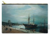 Moonlit Harbour Of Volos Carry-all Pouch