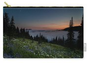 Moonlit Rainier Meadows Sunset Carry-all Pouch