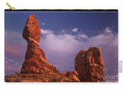 Moonrise At Balanced Rock Arches National Park Utah Carry-all Pouch