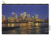 Moonrise Over River Thames Flowing Past Canary Wharf Carry-all Pouch